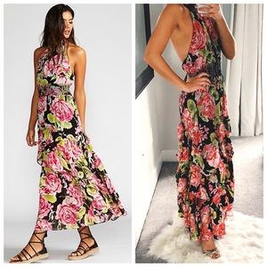 [NWT] Free People In Full Bloom Halter Maxi Dress